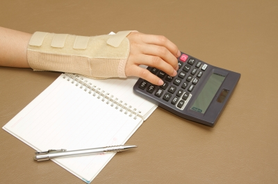 Using Calculator with Injured Wrist